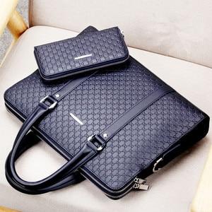 Image 2 - Bolsa masculina de couro, nova bolsa de viagem casual de couro masculina