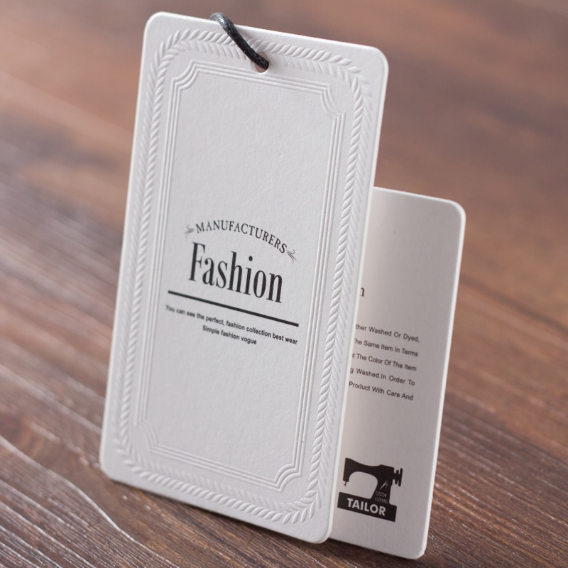 Customized price tags for clothing printed swing hang tag for Boutique labels clothing