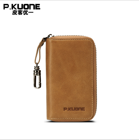 цена на male Best Selling Genuine Leather Key Wallet Car Holder Housekeeper Real Leather bag Organizer Key Case Purse For Business Men