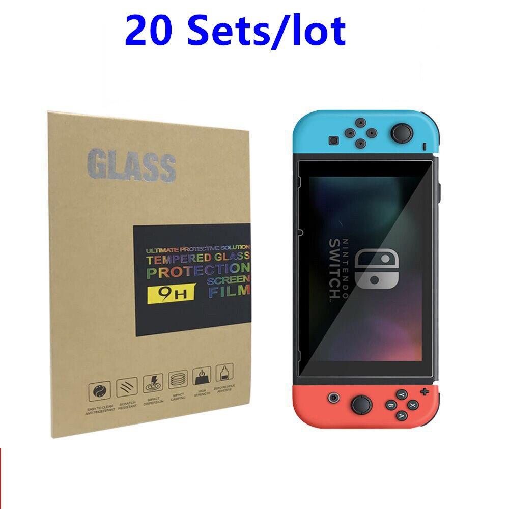20 Sets 9 H dureté Premium Protection ultime verre trempé pour Nintendo Nintendos ntint Switch NS HD Film de Protection d'écran