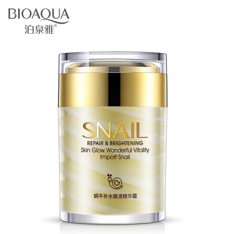 BIOAQUA Natural Snail Essence Facial Cream Moisturizer Hydrating Whitening Skin Anti Aging Oil Control Shrink Pores Skin Care