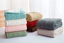 LYN&GY High quality Sheep velvet Blankets Winter warmth Knitted wool blanket Sofa/Bed cover quilt Office shawl