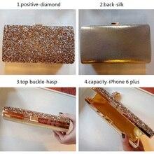 Women Luxury Diamond Bling Banquet  Purses Clutch (3 colors)