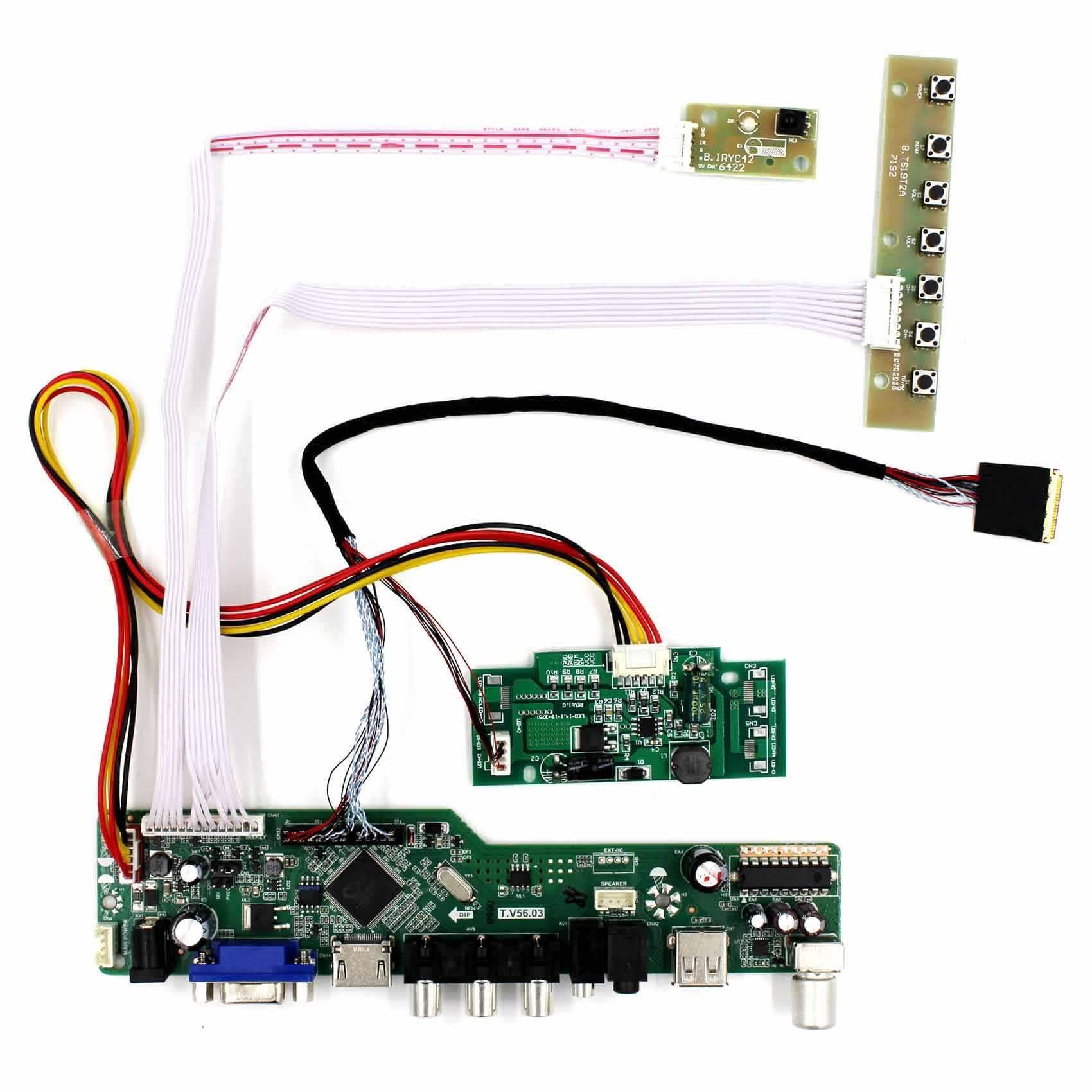HDMI VGA AV USB RF LCD Controller Board For 15 4inch