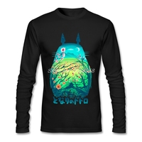 Men T Shirt Online Totoro Autumn Winter He Is My Neighbor T Shirt Casual Long Sleeve