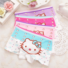 Girls Panties Boxer Underwear Kids Cat Infant Brief Children Fashion 4pcs/Lot Ninos Interior