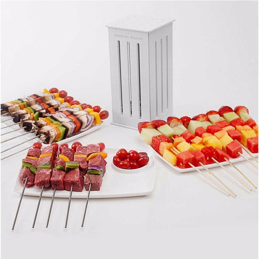Meat Skewer Barbecue Tool Roasting Machine For Roasting Skewer Kebab Tool Brochette ABS White Artifact Meat
