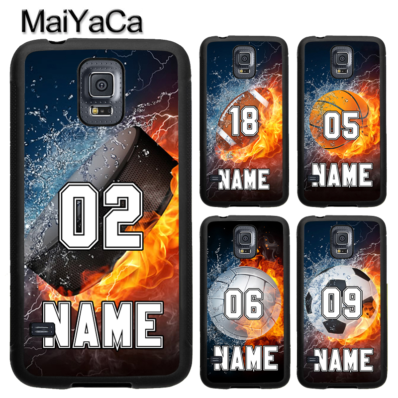 MaiYaCa PERSONALIZED NUMBER NAME Hockey Basketball Case For Samsung Galaxy S9 S8 Plus S4 S5 S6 S7 edge Note 8 5 4 TPU Cover Skin