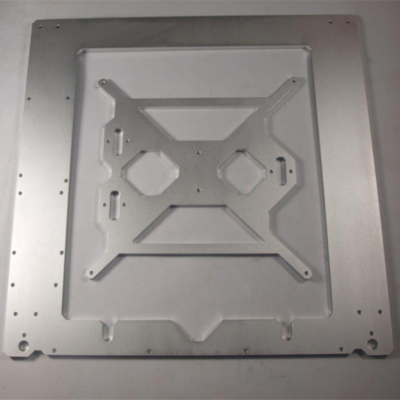 Prix pour 3D imprimante cadre Compatible avec Reprap Mendel Prusa i3 cadre cas 6mm épaisseur oxydation en alliage d'aluminium boîtier métallique