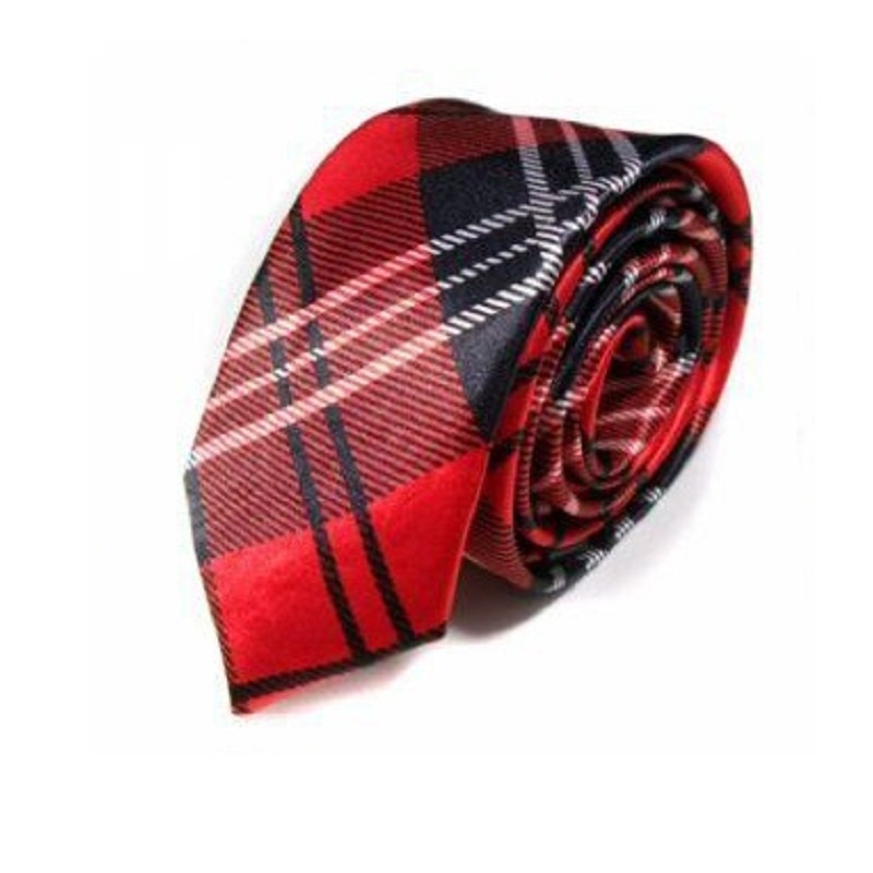 Personalised 5cm Tie For Men Skinny Neckties Printed Polyester Korea Print Small Ties Casual Shirt Accessories
