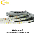 LED Strip 5730 Waterproof DC12V Flexible LED Light 60LED/m 5m/lot Brighter than 5050 5630 LED Strip.
