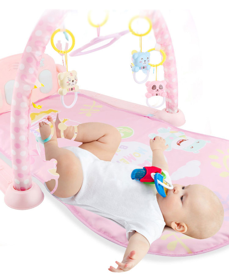 HTB1Pn2fBZuYBuNkSmRyq6AA3pXab Play Mat Baby Gym Toys Gaming Carpet 0-12 Months Soft Lighting Rattles Children's Music Mat Blue Pink Baby Gifts Educational Toy