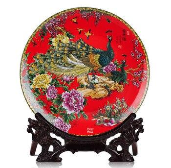 BEST business birthday present - vintage handicraft FENG SHUI wealth honour  porcelain plate  Decor art
