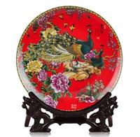 BEST business birthday present vintage handicraft FENG SHUI wealth honour porcelain plate Decor art