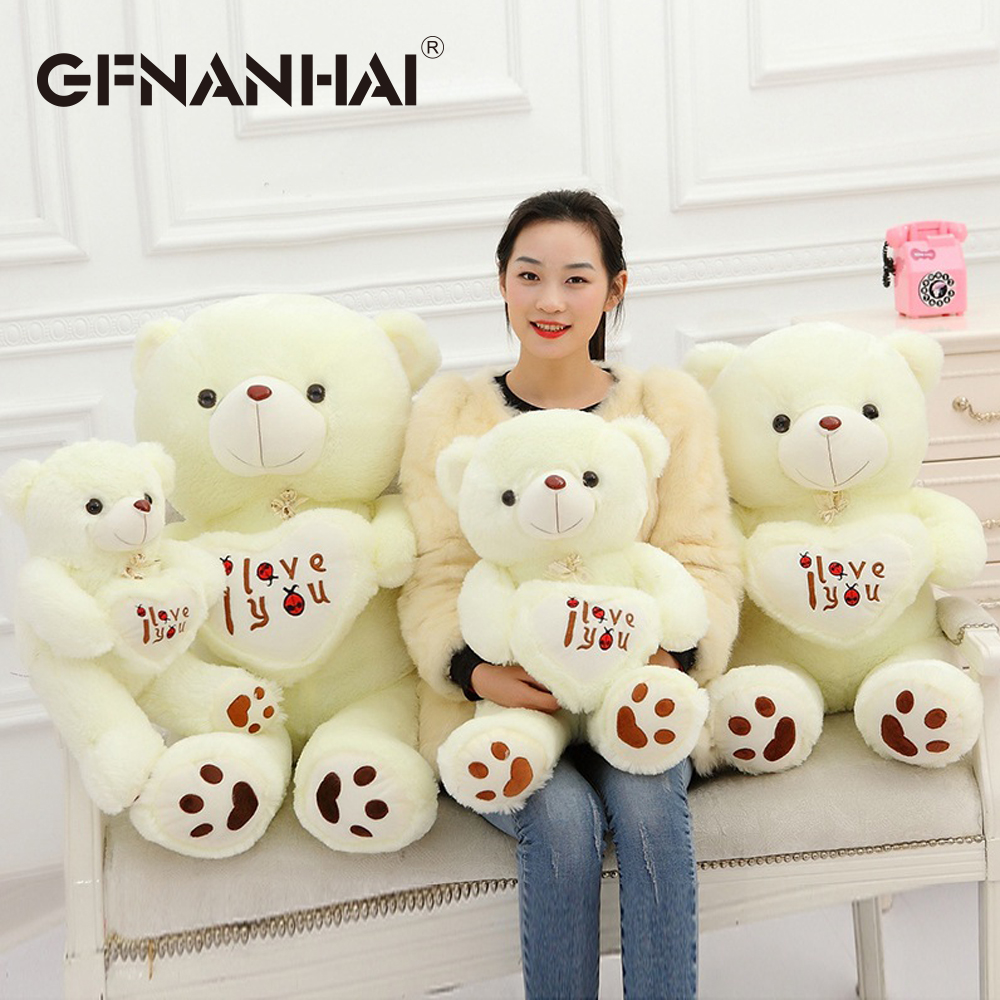 50cm cute I Love You Teddy Bear plush toy stuffed soft holding love heart bear pillow birthday Valentine's gift for kids gir the lovely bow bear doll teddy bear hug bear plush toy doll birthday gift blue bear about 120cm