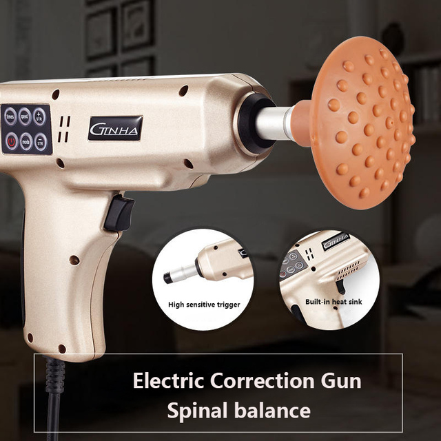 LCD screen Electric Correction Gun Chiropractic Adjusting Instrument Intelligent Spine Correcting Massage Apparatus