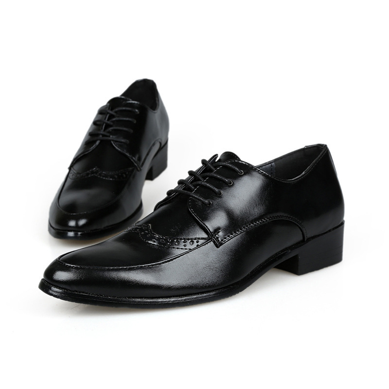 brand leather brogue shoe for formal shoe dress lace