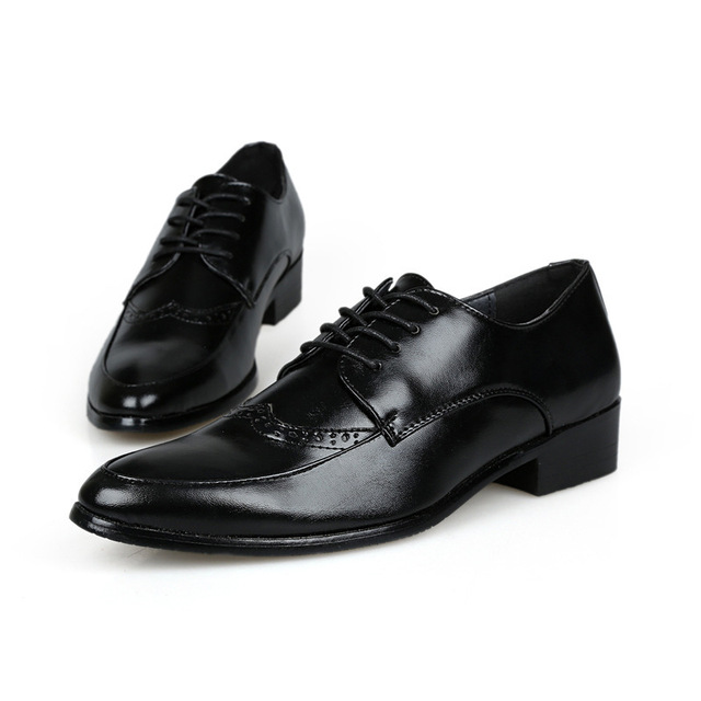 Brand Leather Brogue Shoe For Men Formal Shoe Dress Lace Up