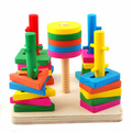 Postagem isento, terno blocos de cinco pilares inteligência, aprendizagem e educação de brinquedos do bebê, brinquedos educativos para crianças de madeira