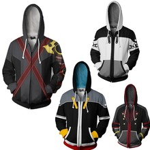 Kingdom Hearts Sora Hoodie Cosplay Game Sweatshirts Men Women