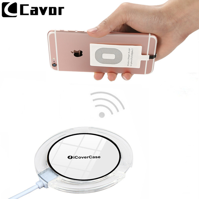Qi Sans Fil De Charge Pour Apple Iphone 5 5S Se 5C 6 s 6 s 7 Plus Couverture de Cas De Puissance sans fil Chargeur Banque De Charge Pad Récepteur