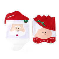 Christmas Chair Cover Bags Christmas Gift Old Couples man and woman Design Dinner Table Decoration Wine Bottle Cover Gift Bags