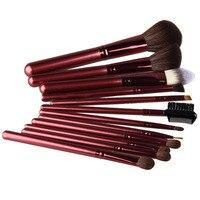 2016 Fashion 12pcs Set Powder Concealer Makeup Brush Set Foundation Eyeshadow Blush Brushes Makeup Tool Kit