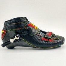 Симмонс ролик корни обувь для скорости на роликах для взрослых и детей унисекс конькобежный спорт обувь черные туфли прямые роликовые коньки