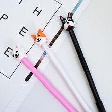3 pcs/lot Cartoon dog Gel Pen kawaii stationery School Supplies Office Cute writting pens paperlaria