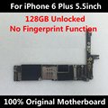 128 gb desbloqueado 100% original motherboard para iphone 6 plus 5.5 inch fichas completas ios instalado nenhuma impressão digital placa lógica mainboard