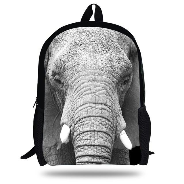 7a398a53f93e 16-Inch Girls Mochila Elephant school bags for boys school backpack kids  and Teenagers bookbag