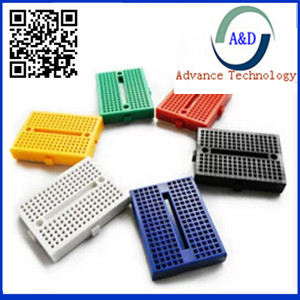 1pcs SYB-170 Mini Solderless Prototype Experiment Test Breadboard 170 Tie-points 35*47*8.5mm for ATMEGA Arduino