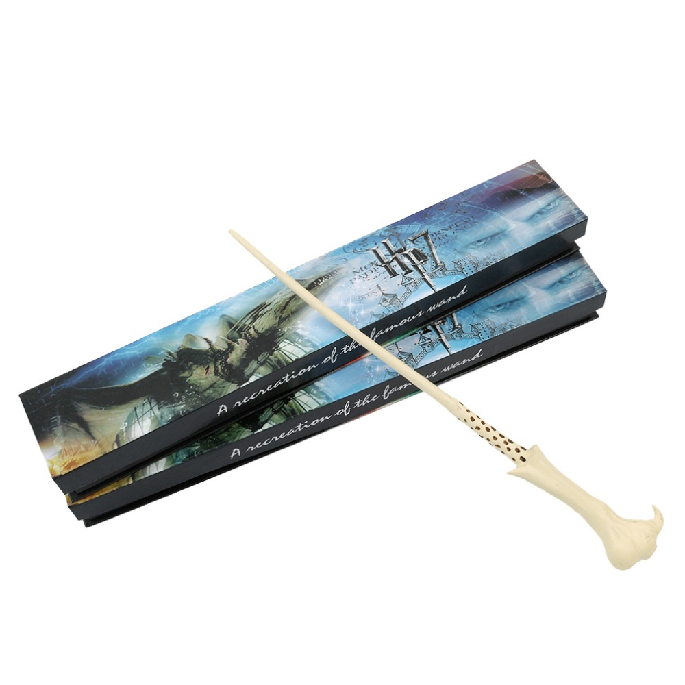 Newest Harri Potter Magic Wand Lord Voldemort Resin Wand Magical Stick Wand New In Box Cosplay Harrye Potters newest harri potter magic wand lord voldemort resin wand magical stick wand new in box cosplay harrye potters