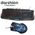 компьютерная мышь и клавиатура с светодиодной подсветкой