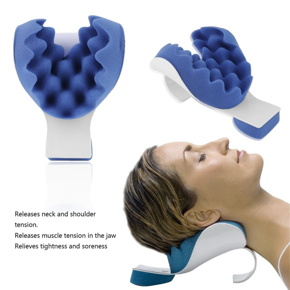 Blue Sponge+Plastic Releases Muscle Tension Relieves Tightness and Soreness Theraputic Neck Support Tension Reliever Neck Newly
