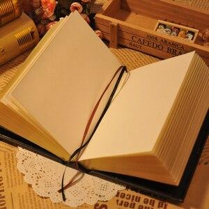 Image 4 - 416 páginas de espessura vintage em relevo xadrez retro notebooks alívio europeu antigo ouro capa dura notebook leiteria