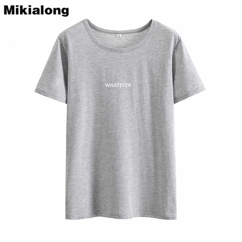 Mikialong 2018 Punk Rave Gaya T Shirt Wanita Yang Lucu Kaos Wanita Musim Panas Atasan Tee Shirt Femme Kawaii Wanita Katun tshirts