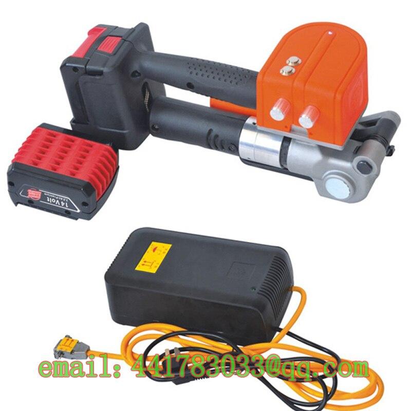 D19 PET çelik bant elektrikli balya elektrikli çemberleme çemberleme şarj edilebilir balya yarı-otomatik çemberleme makinesi karton