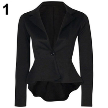 Women s Fashion One Button Slim Casual Business Suit Jacket Coat Outerwear