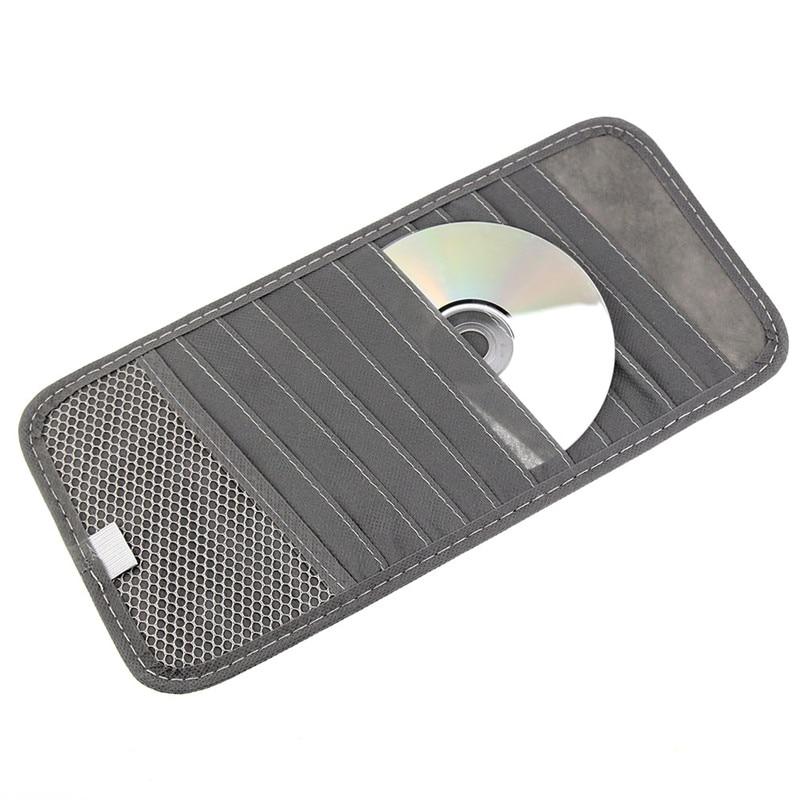 12 Disc Capacity CD Car Sun Visor Storage Dvd Holder Three Color Pocket Case Organizer Auto Car Styling Car Accessories Camping