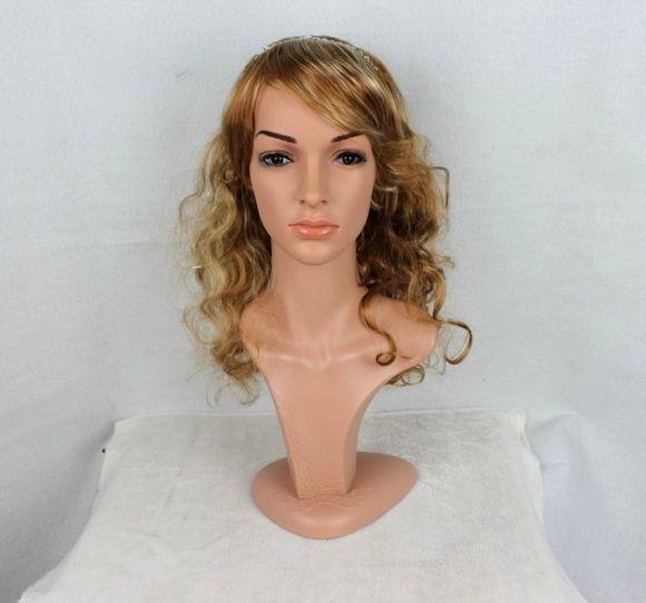 Haute qualité Réaliste En Plastique femelle mannequin mannequin mannequin tête avec des cheveux pour chapeau et lunettes de soleil et bijoux et affichage de masque