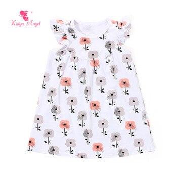 Kaiya Angel 2017 Kids Dress For Girl Girls Formal Dresses Children's Girl Clothes Floral Flower Fancy Dresses Summer Dress