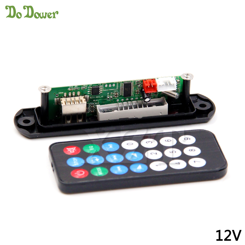 Decoder Board Micro USB MP3 Power Supply FM Radio MP3 DC 5V & 12V Audio Module for Car Remote Music Speaker & E-Book Reading