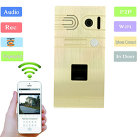 Android/IOS Дистанционное управление Беспроводной WI-FI видеомонитор Системы отпечатков пальцев ip-домофон Главная Дверь Система контроля доступа