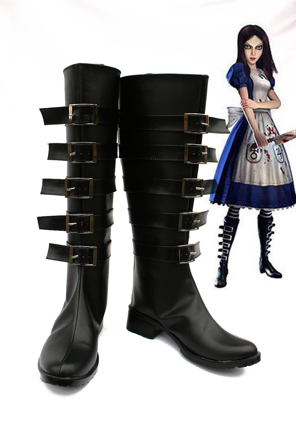 Alice: Madness Returns Cosplay shoes boots for adult women men for halloween carnival boots