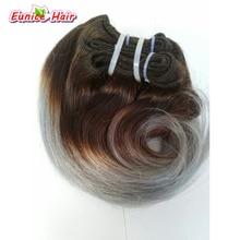 Cheap Human Brazilian Hair Weave Body Wave 4 Bundles 8inch Short Body Wave Hair Two Tone