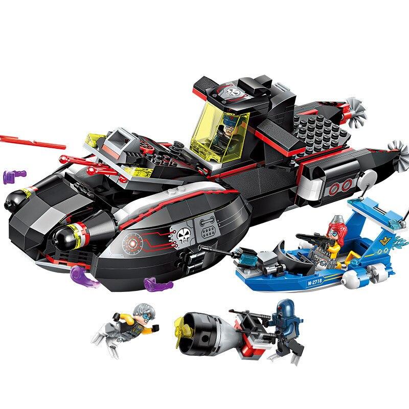 466 sztuk dla dzieci edukacyjne klocki zabawki kompatybilny Legoingly miasta magia wielorybów łodzi podwodnej DIY figurki cegły bhest prezenty w Klocki od Zabawki i hobby na AliExpress - 11.11_Double 11Singles' Day 1