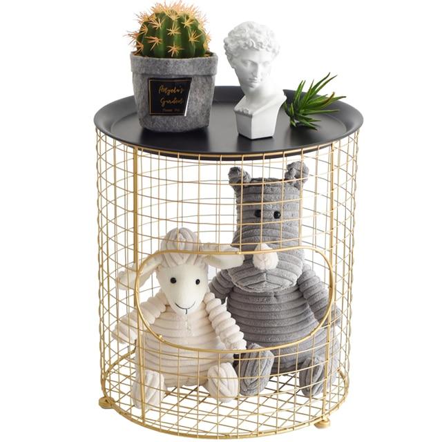 Nordic Golden Coffee Table / Basket