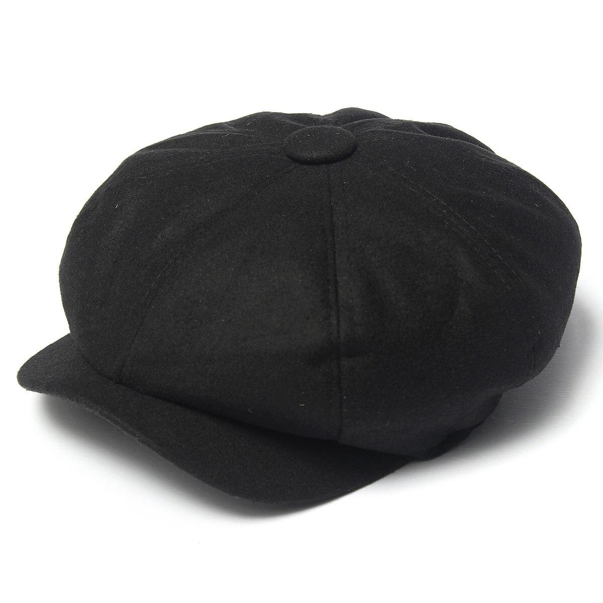 Detalle Comentarios Preguntas sobre Gorros octogonales de Tweed para hombre  gorra negra de Gatsby 5ce26f09618