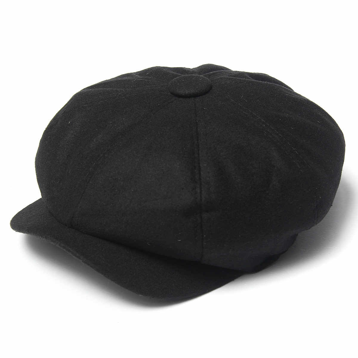 4f6edce03b6 Detail Feedback Questions about Men s Tweed Octagonal Caps Black ...
